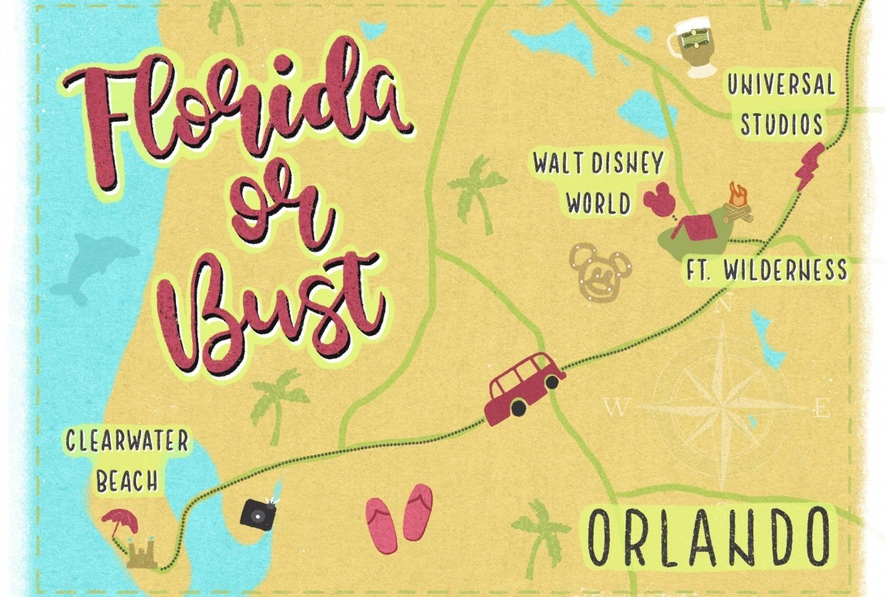 Florida or Bust by MayRoseDesign - student project