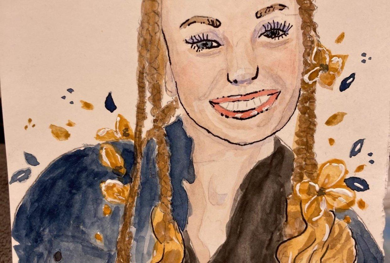 Watercolor Portrait April 2021 - student project
