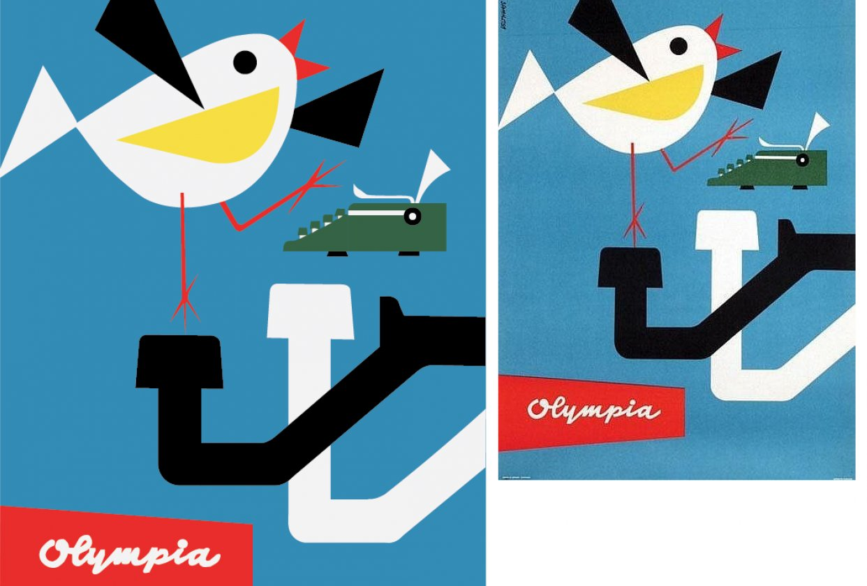 """Recreated """"Olympia"""" Poster - student project"""