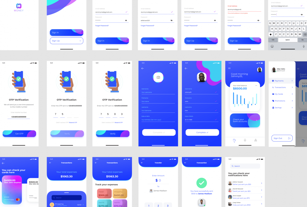 Finance App (Mobile) - student project