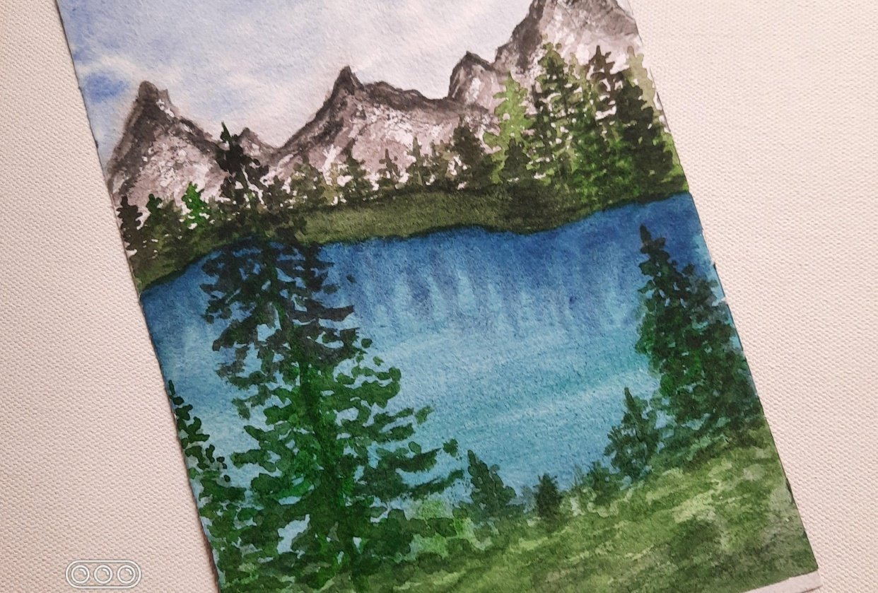 Watercolor Green Forest Landscapes with Suhasini - student project