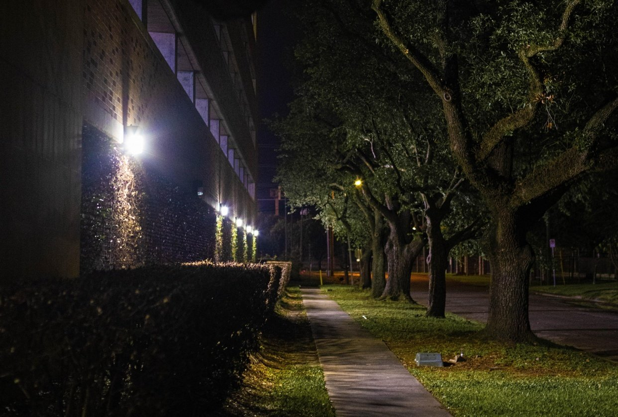 Walking at night - student project