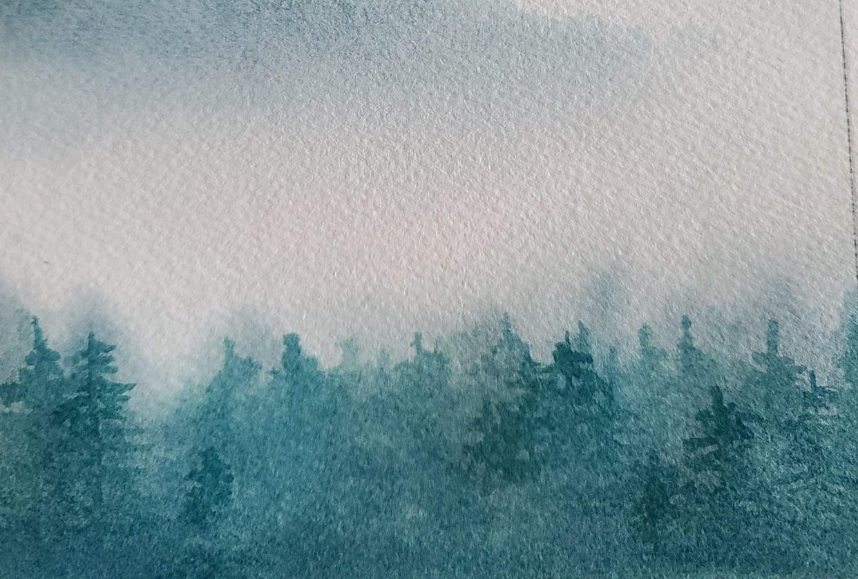 Misty Mountain Trees - student project