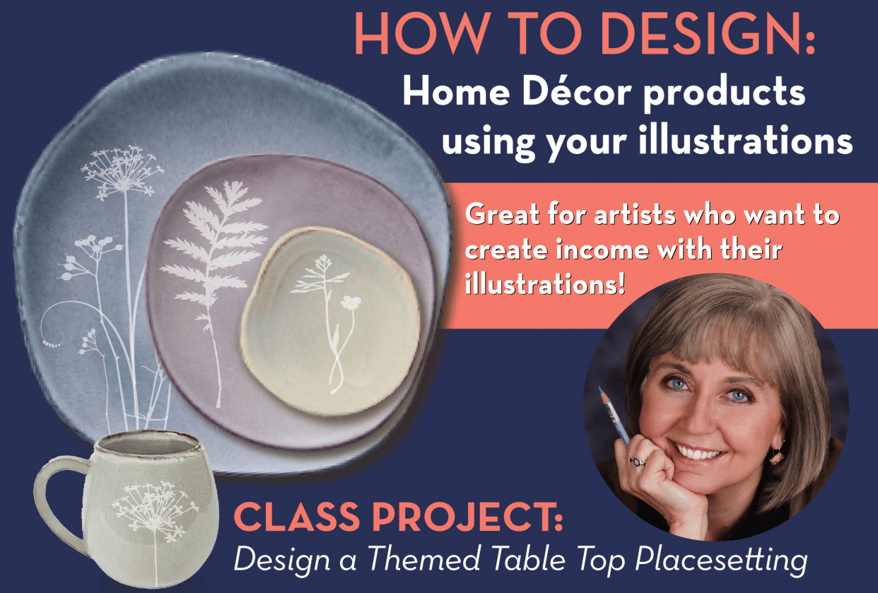 How to Design Home Décor Products Using Your Own Illustrations - student project