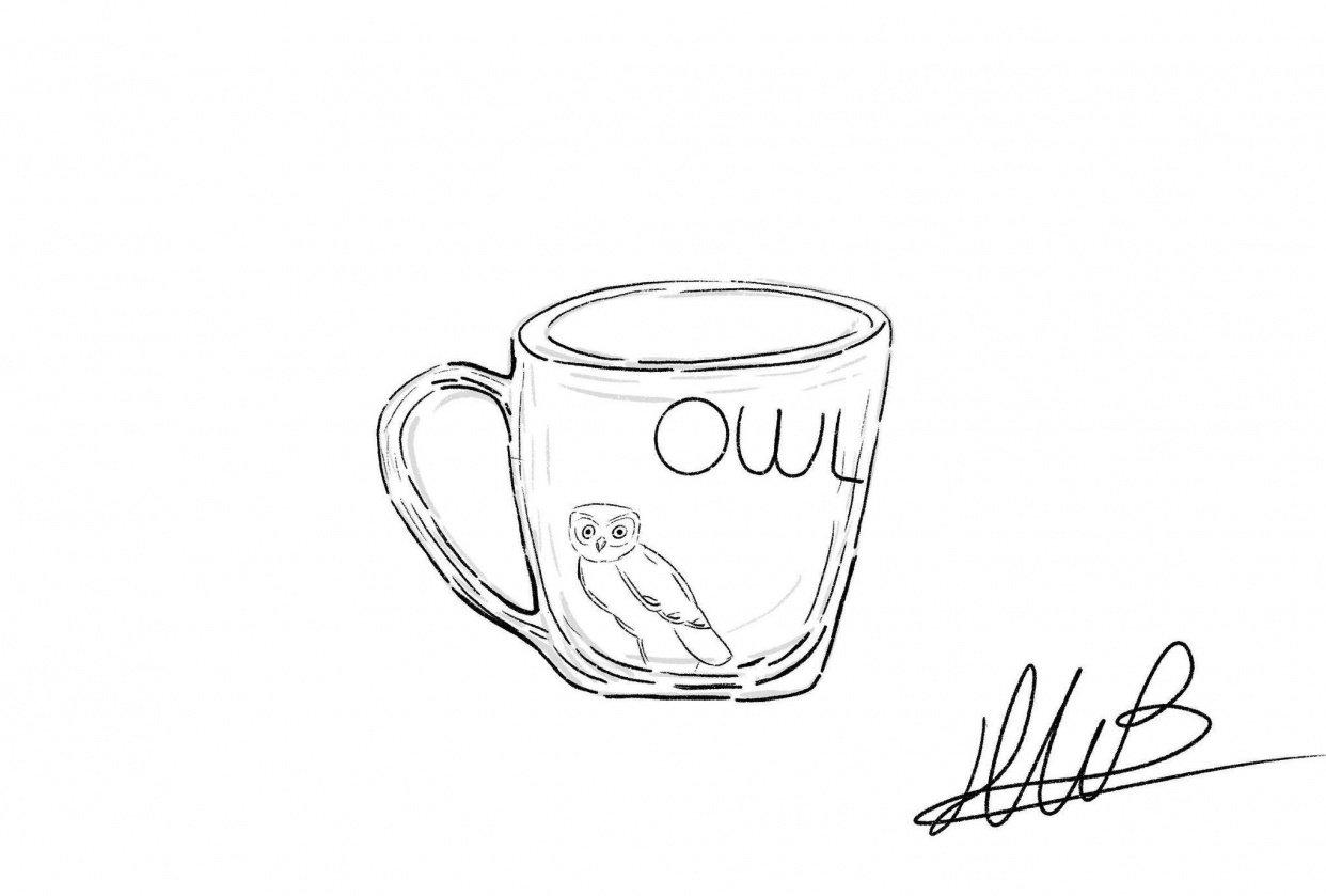 Owl Mug - student project