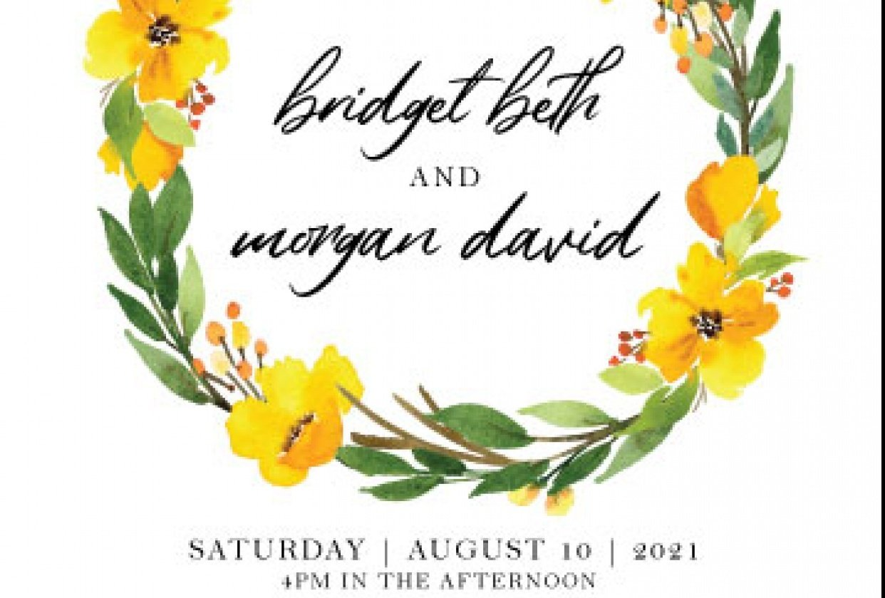 Watercolor Wildflower Invitation Suite - student project