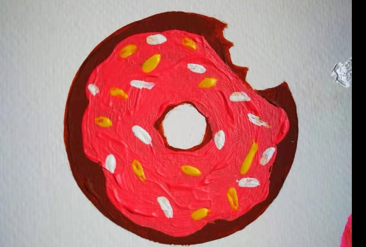 Palm leaf and donut inspired by CatCoq class - student project