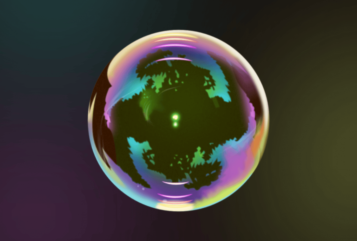 Realistic vector bubble - student project