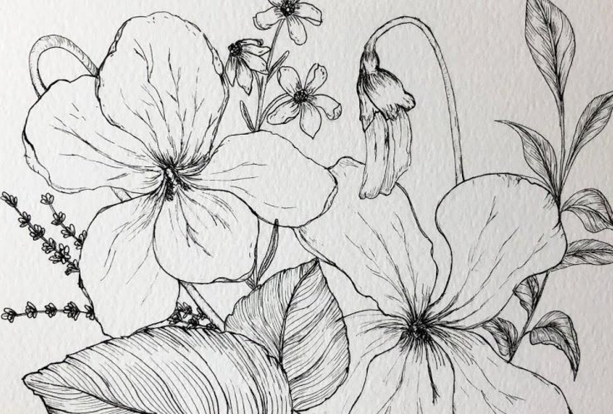 Spring Violets - student project