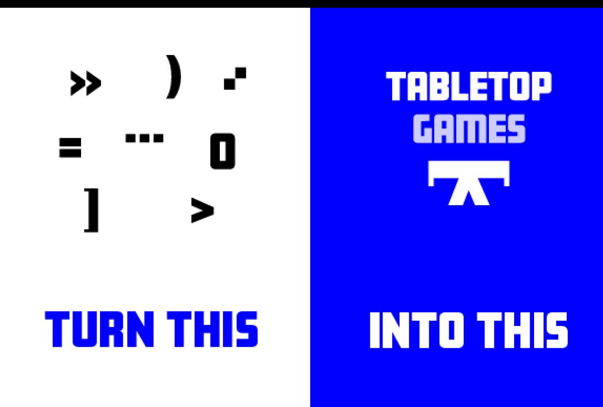Design a unique logo using glyphs - student project