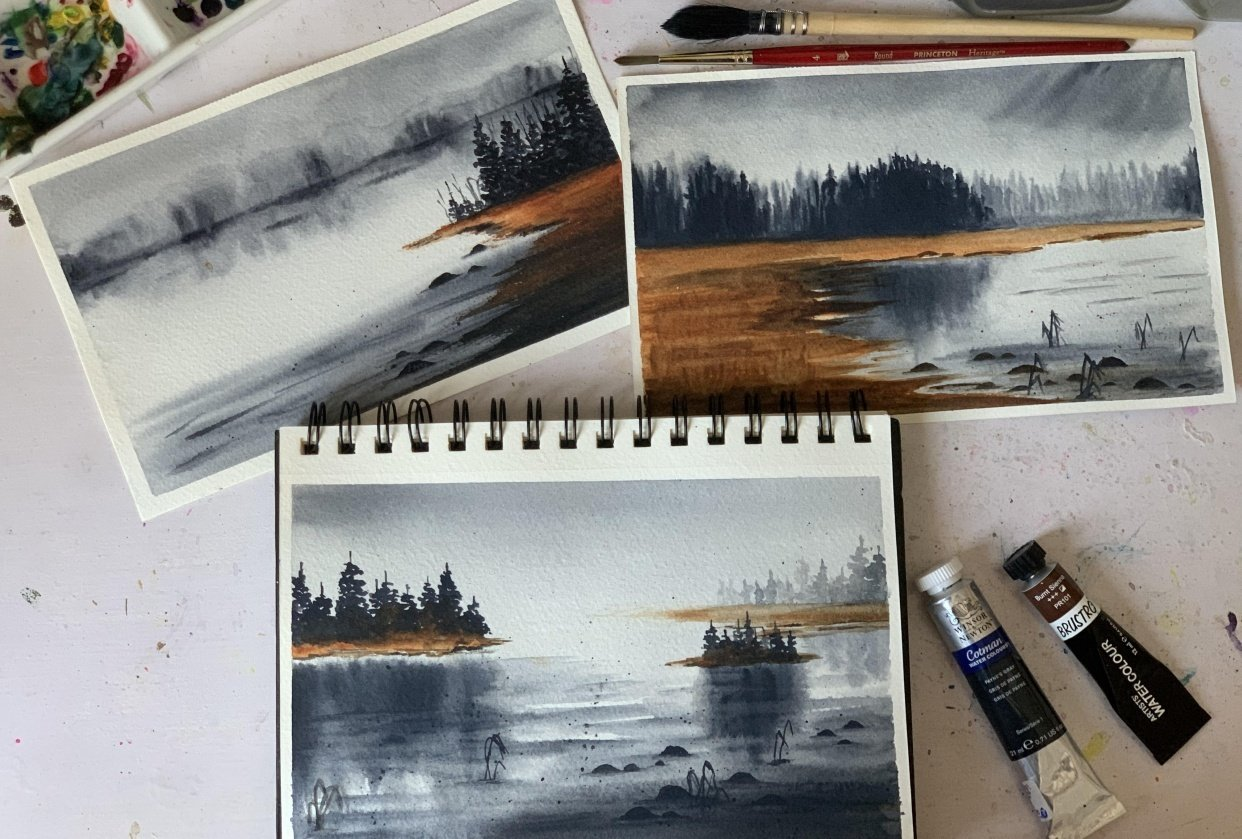 Moody Landscapes - student project