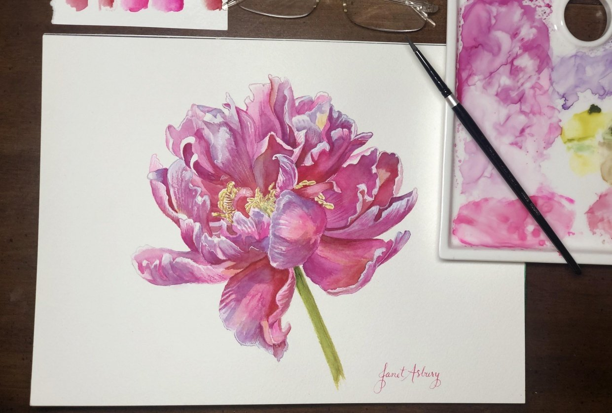 Pink Peony with Anna Bucciarelli - student project