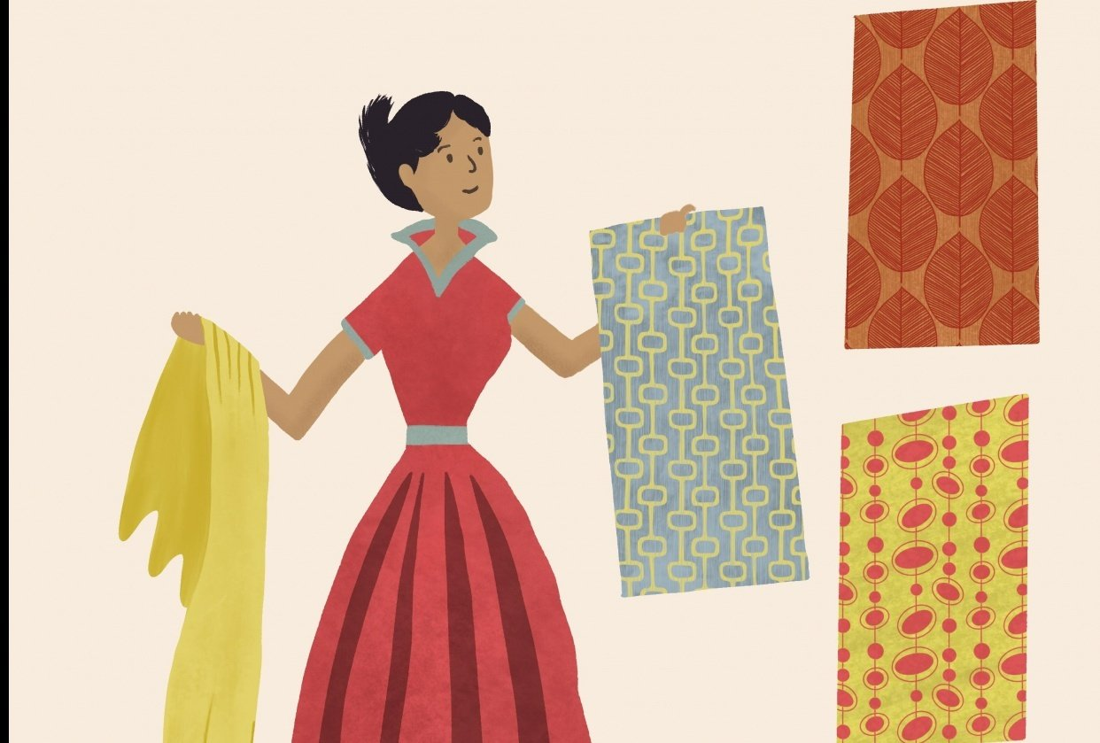 Midcentury style Illustrations - student project