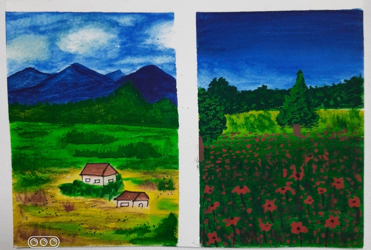 BEGINNERS GUIDE FOR BEGINNING WITH GOUACHE with Umashree - student project