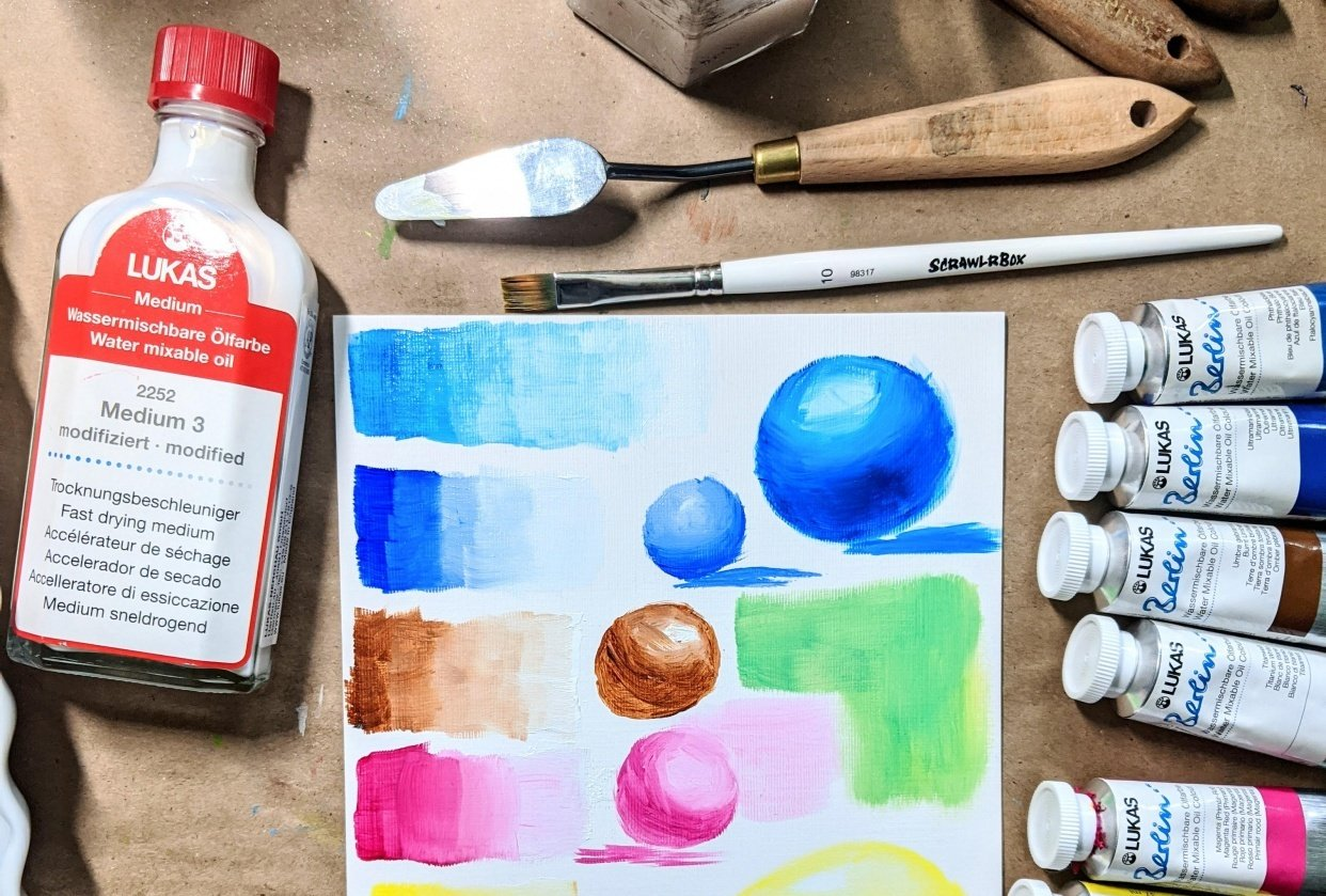 Intro to watersoluable oil. - student project
