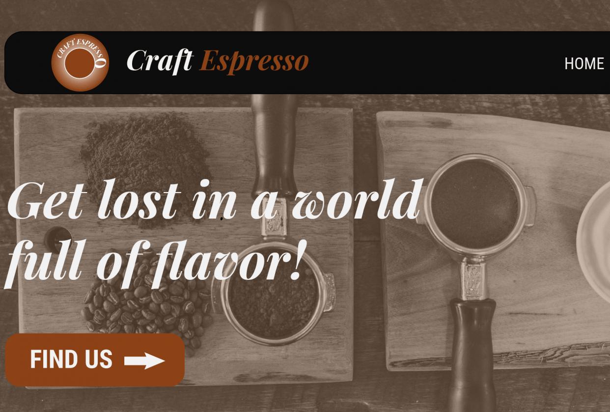 UI Craft Espresso - student project