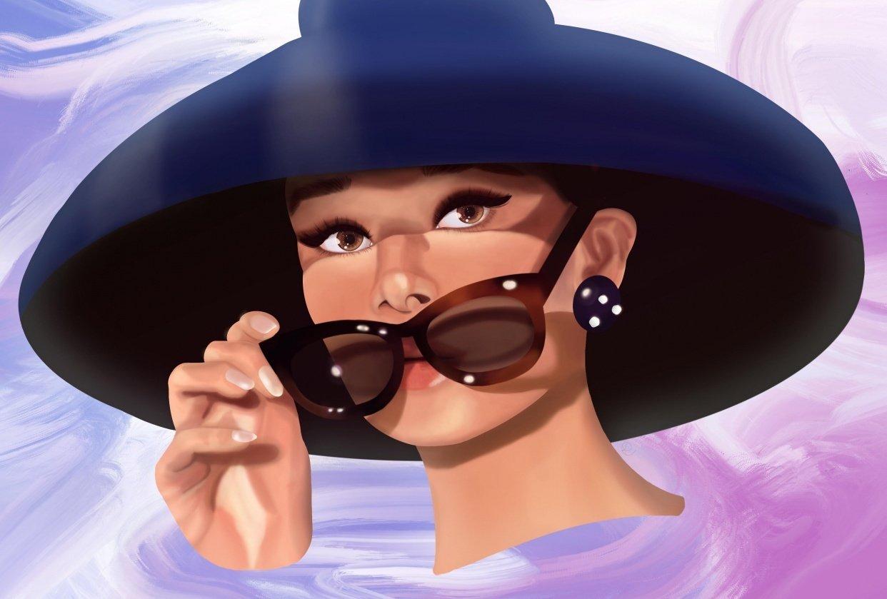 Audrey Hepburn Portrait - student project