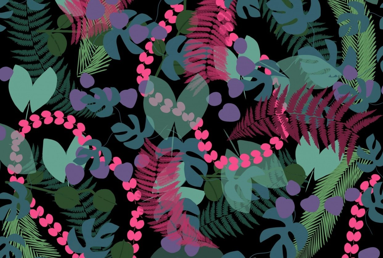 Leaf Brush pattern - student project