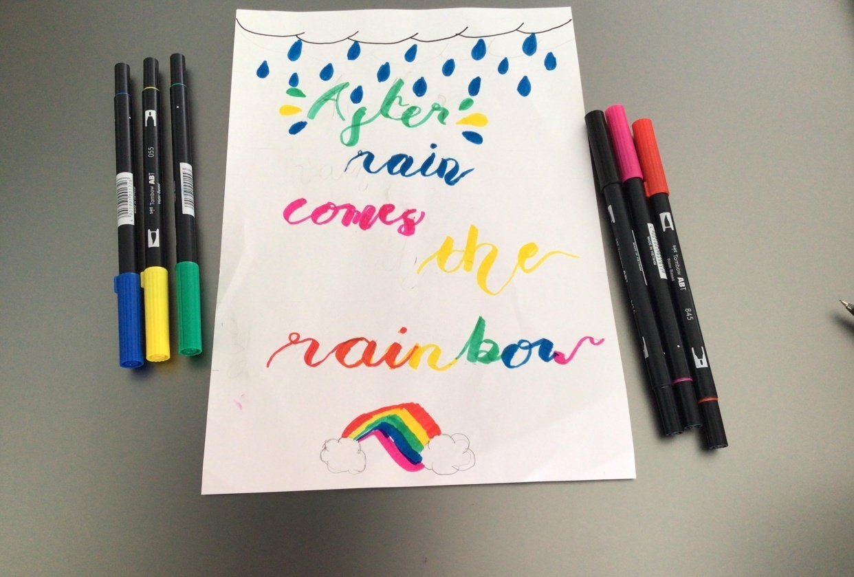 After Rain Comes The Rainbow - student project