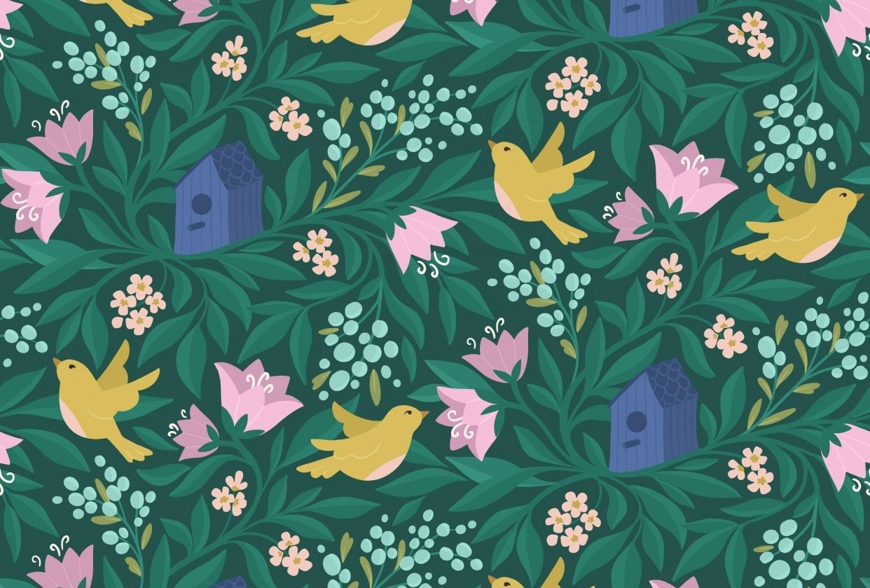 Birds & flowers - student project