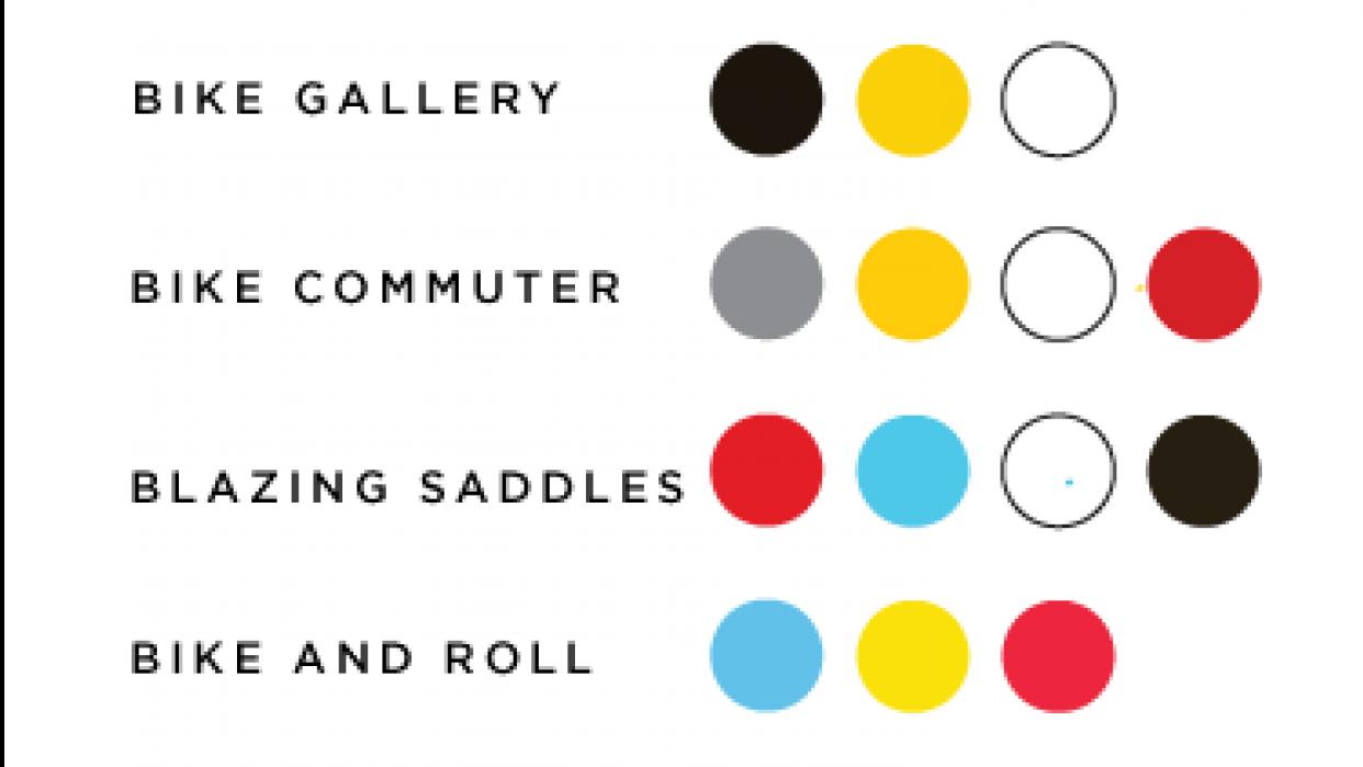 BikeBook Color Palette & Creative Process - student project