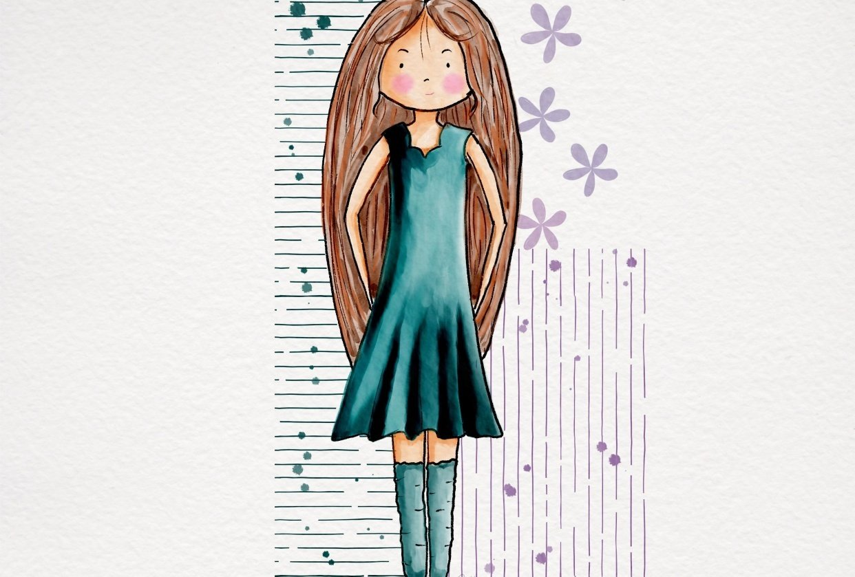 Sweet Stylised girls - student project