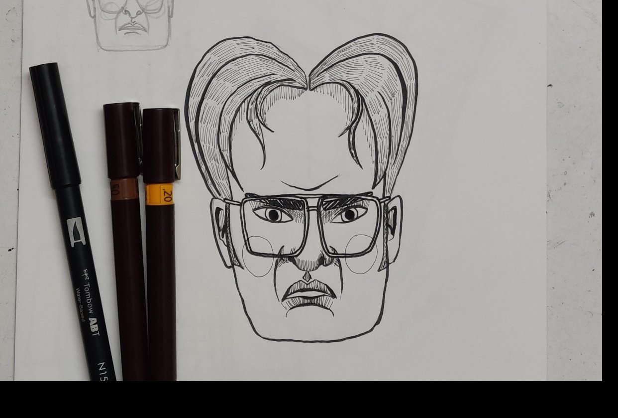 Dwight Schrute caricature - student project