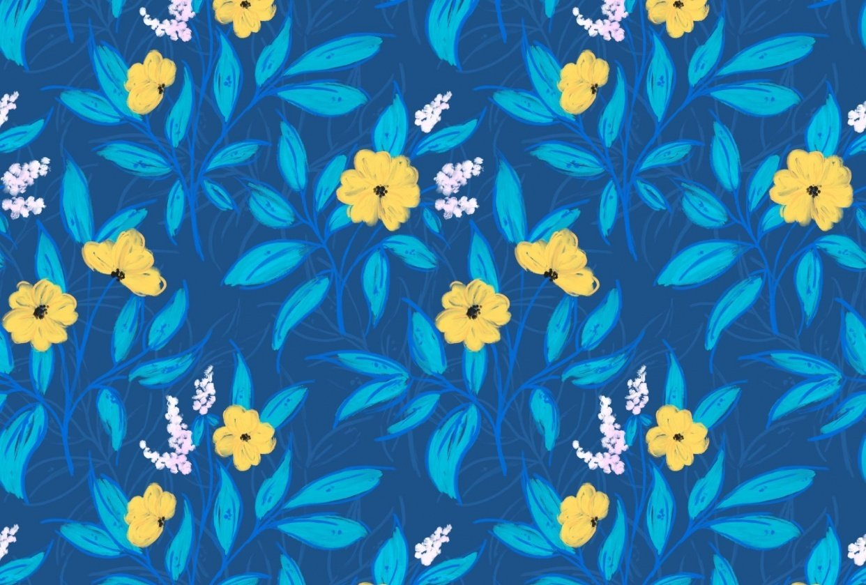 Intricate Floral Pattern - student project