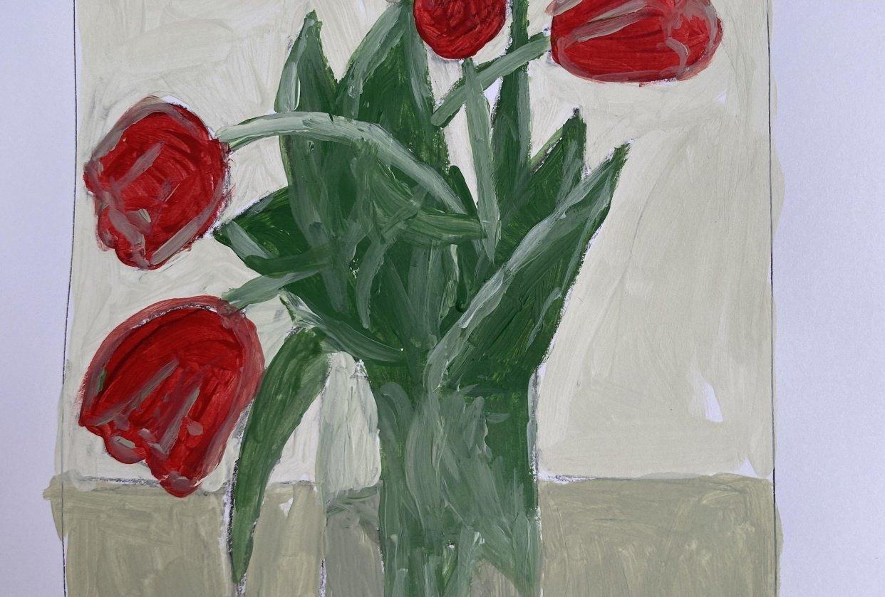 Beautiful tulips - student project