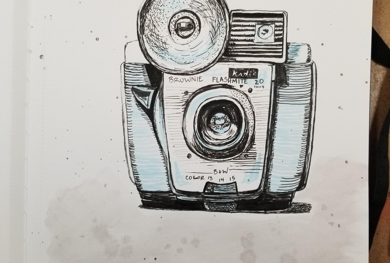 Vintage Kodak camera - student project