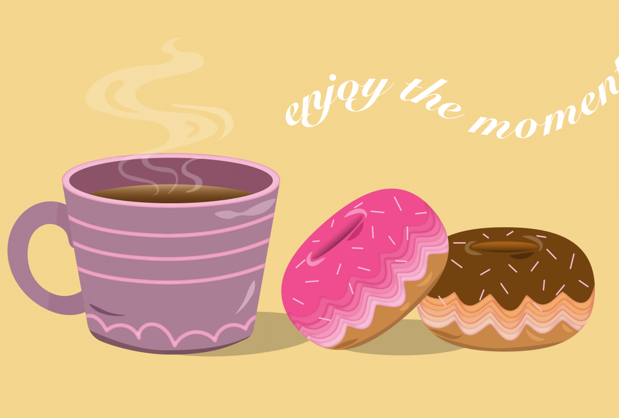 donuts with coffee - student project