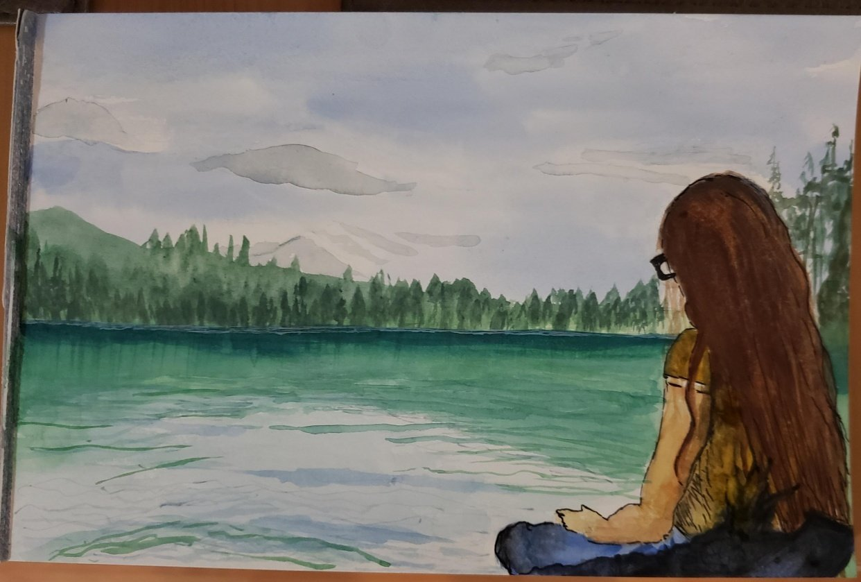 """Trying Landscapes - """"This watercolor approach is truly meditative."""" - student project"""