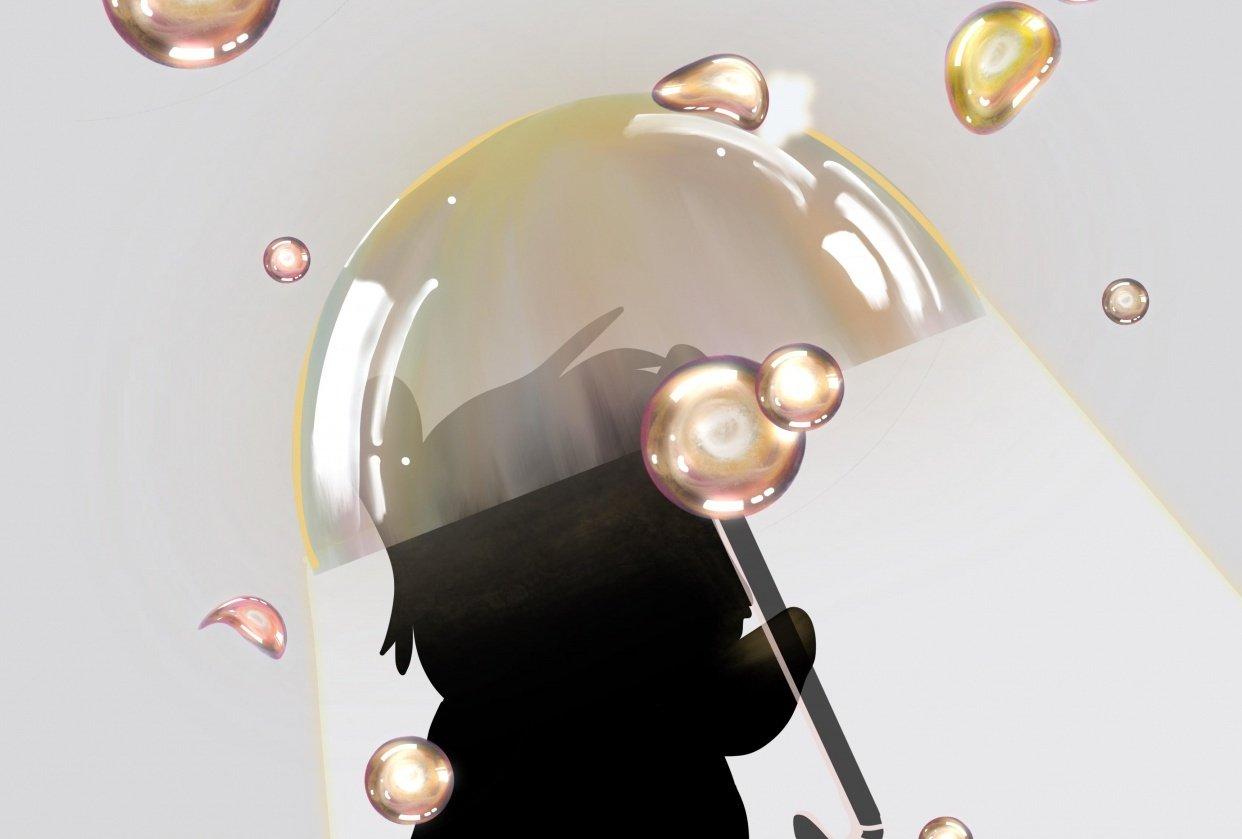Bubbled umbrella - student project