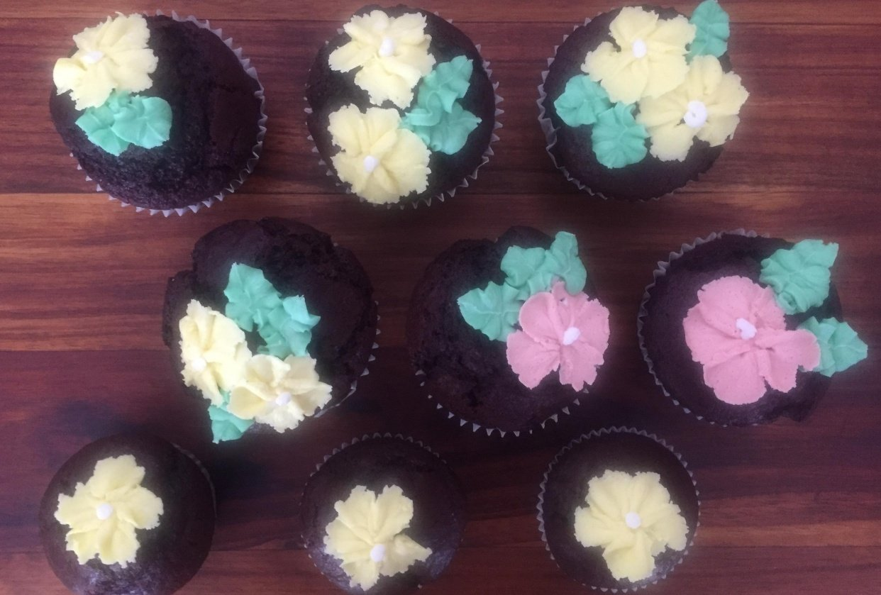 Butter Cream Flowers - student project