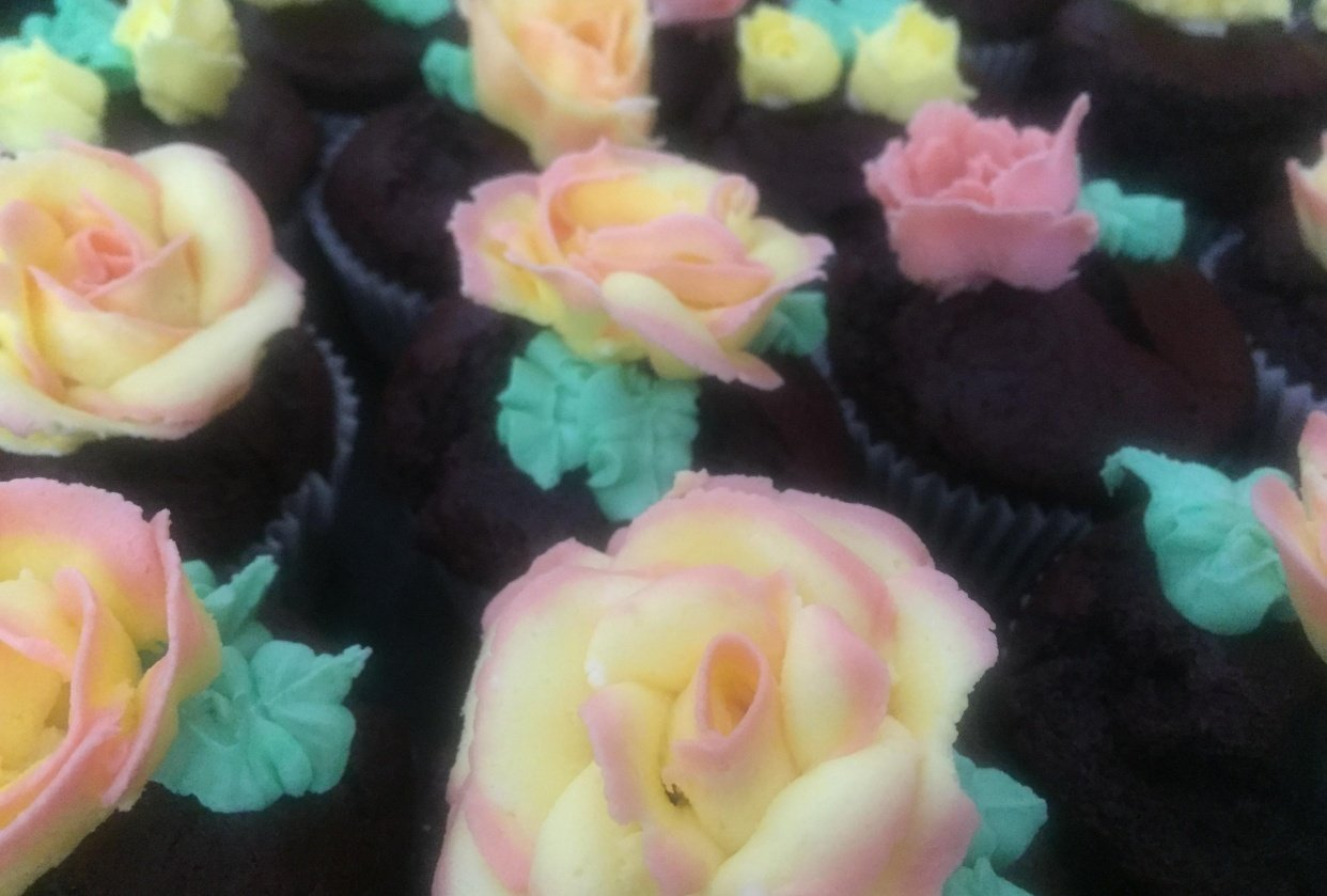 Butter Cream Roses - student project