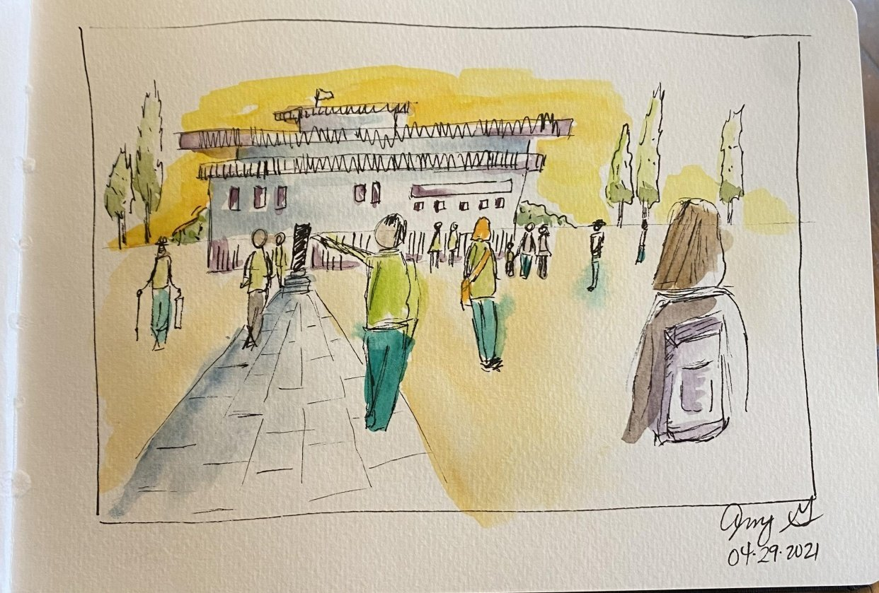 Urban Sketching People - student project