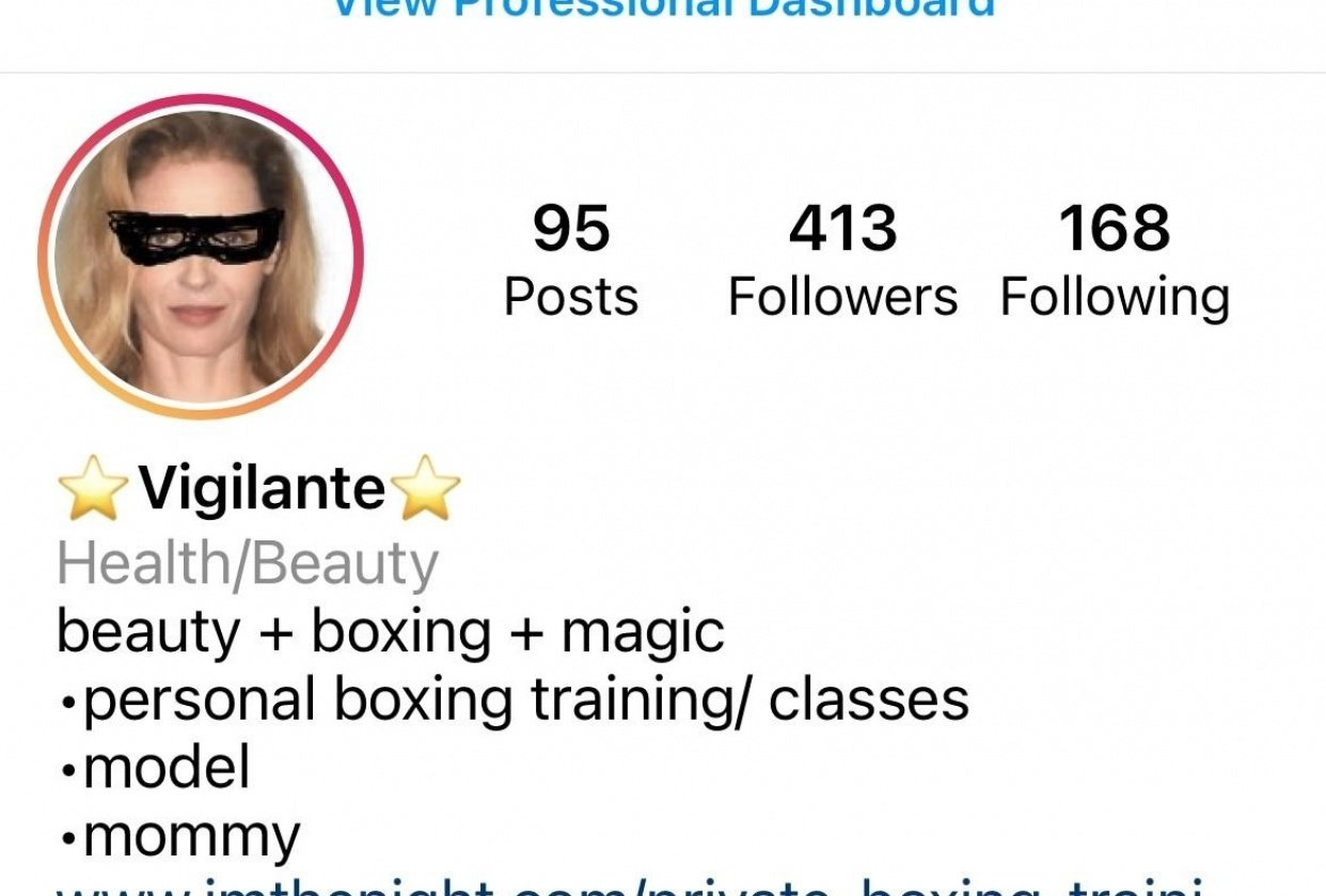 Boxing Mommy IG - student project
