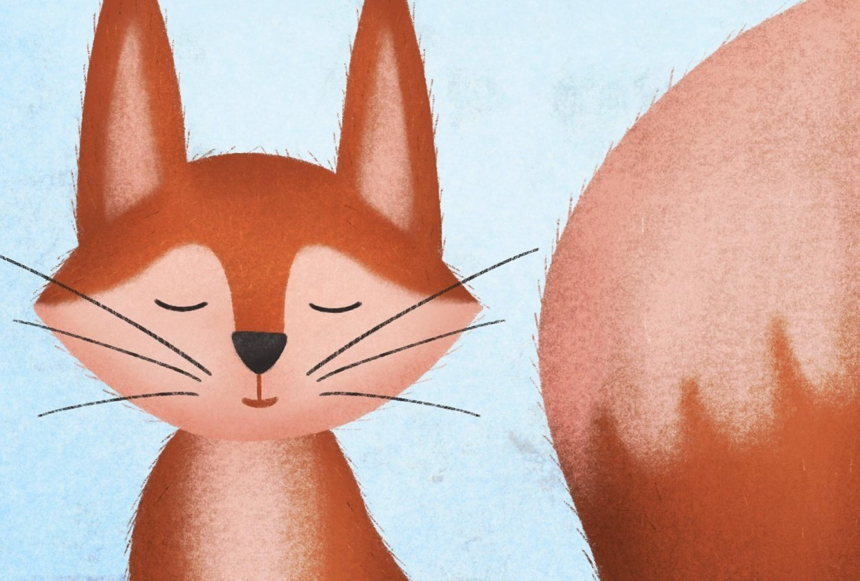 Fox illustration - student project