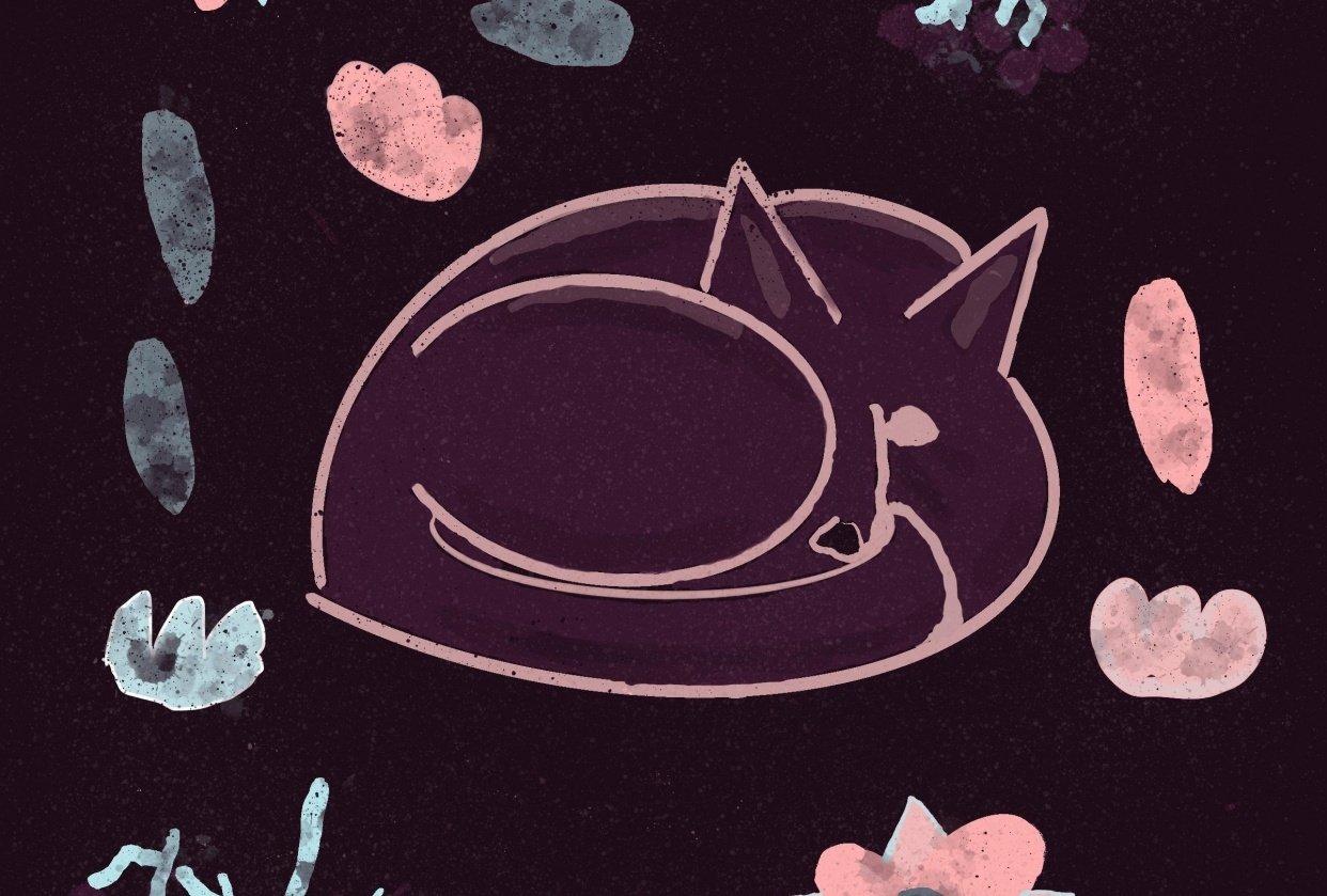 Fox sleeping - student project