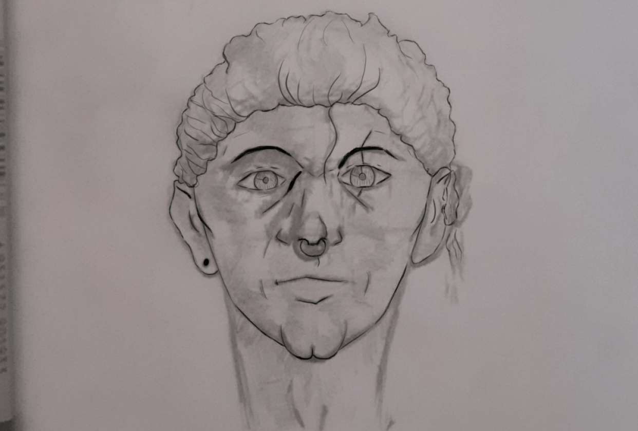 Semi self portrait - student project