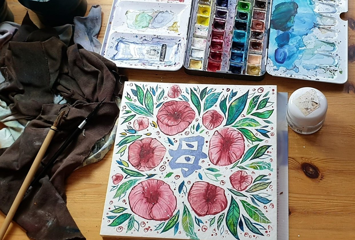Making a Mother's Day card - student project