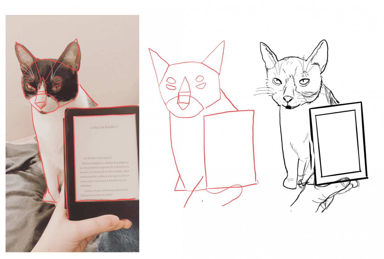 My first realistic sketch from my cat Teo - student project