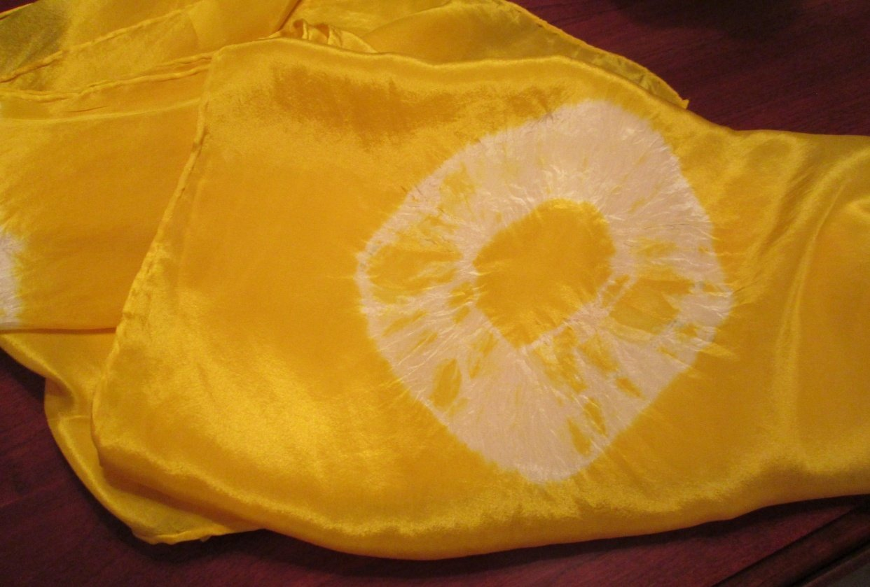 Turmeric Dyed Scarf - student project