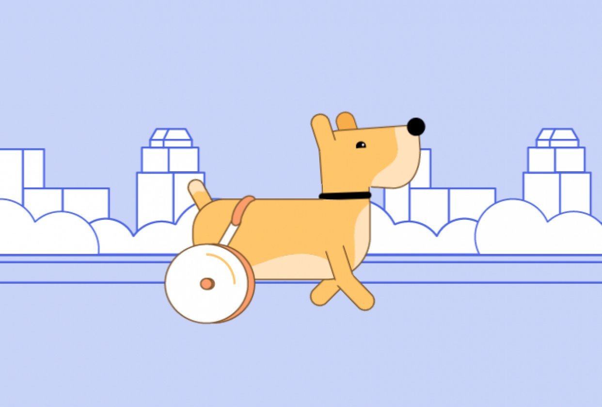 Rolling dog - student project