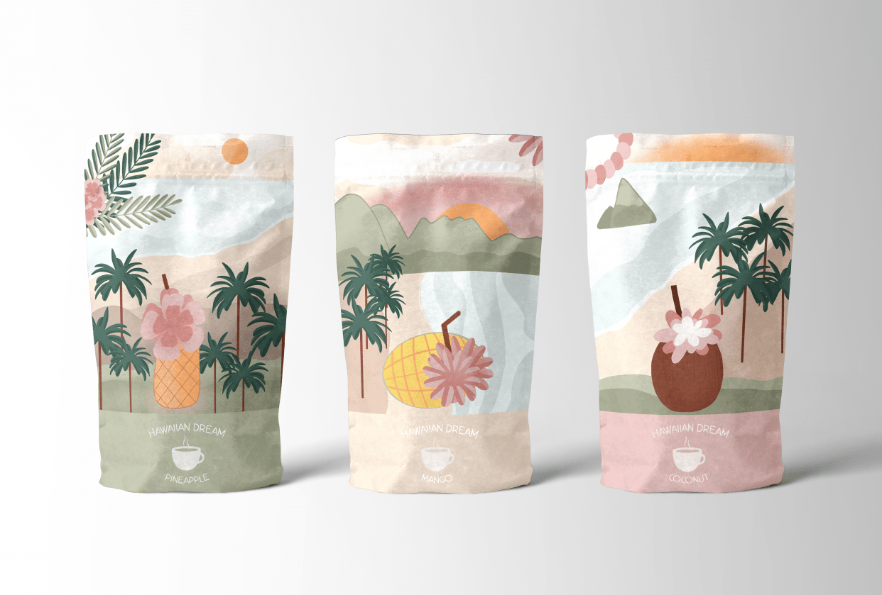 My tea packaging design - student project