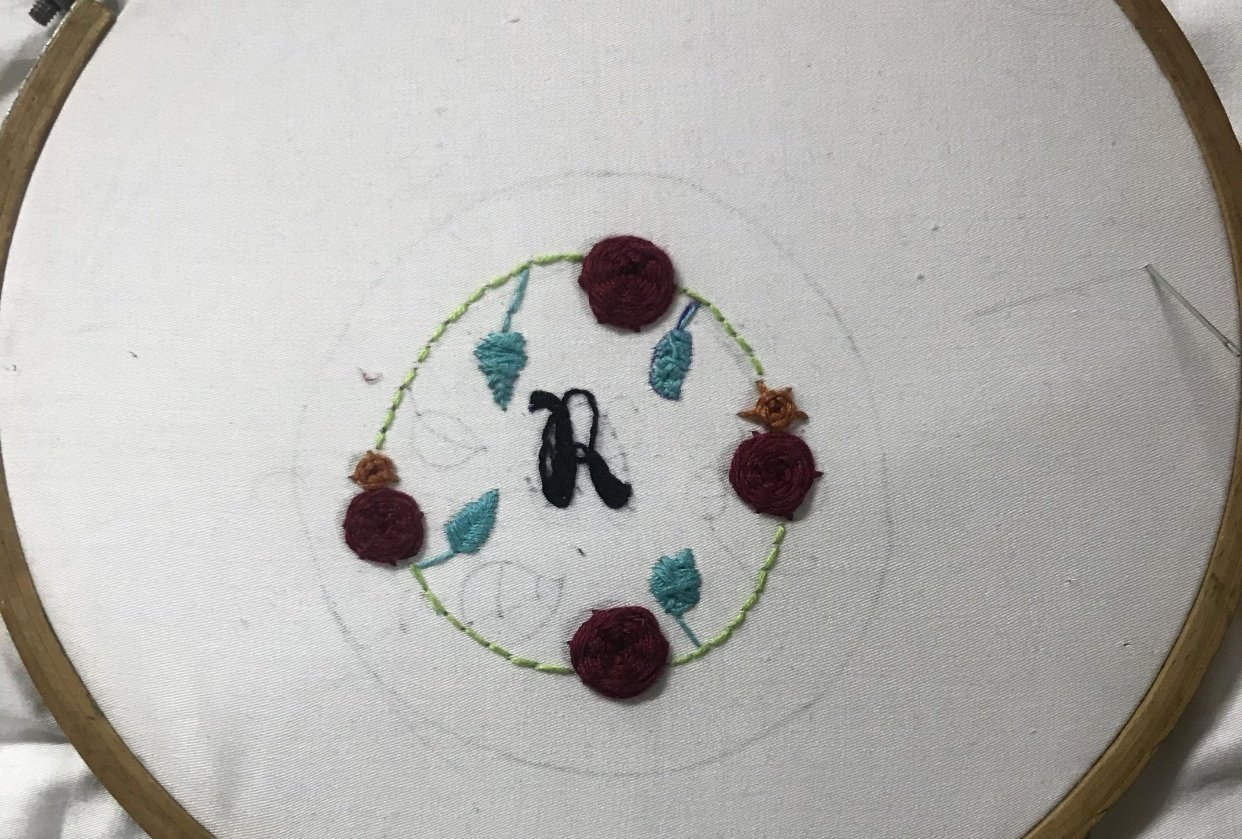 My embroidery project - student project