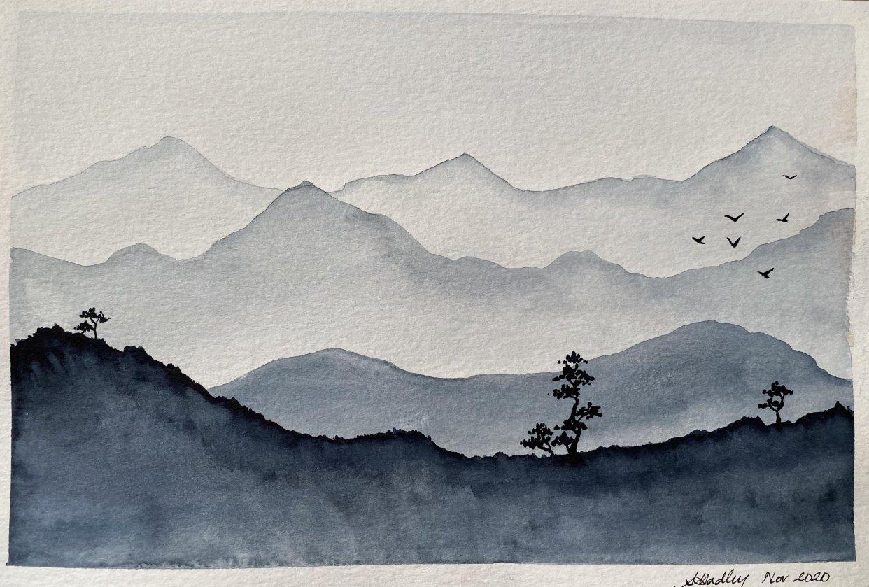 Monochrome landscapes - student project