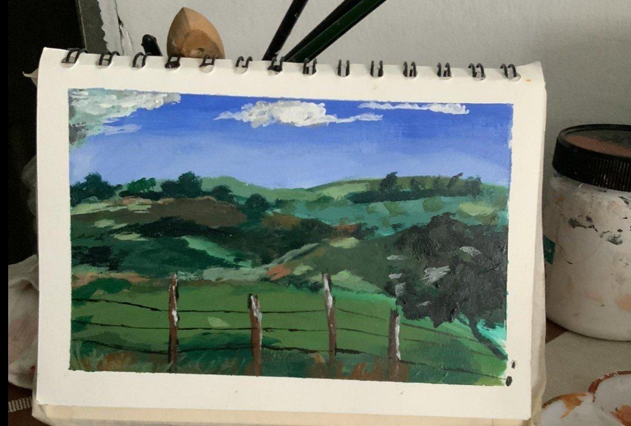 Acrylic Landscape - student project