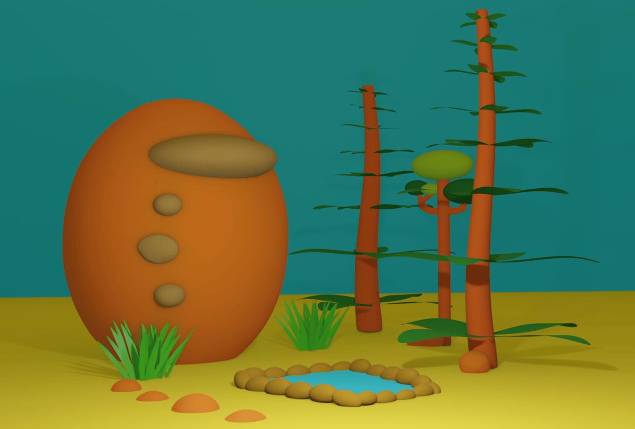 My 3D Scene - student project