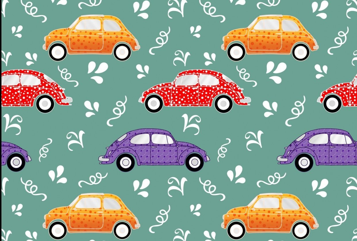 Pattern brushes 101-vintage cars - student project